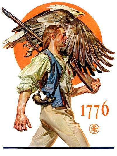 """Minute Man,""June 29, 1929-Joseph Christian Leyendecker-Giclee Print"