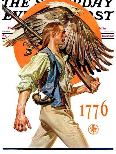 """Minute Man,"" Saturday Evening Post Cover, June 29, 1929-Joseph Christian Leyendecker-Giclee Print"