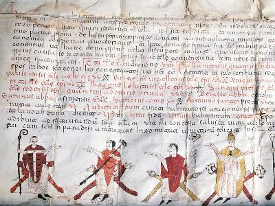 Minutes of the Council of Jaca. 11th Century. Fragment.--Giclee Print