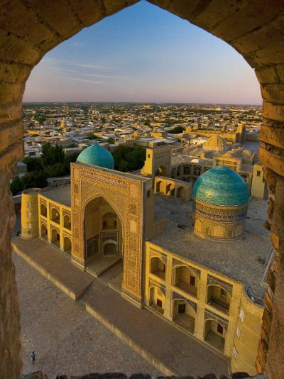 Mir-I-Arab Madrassah from Kalon minaret, Bukhara, Uzbekistan-Michele Falzone-Photographic Print