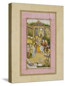 Solomon and the Queen of Sheba, C.1760 by Mir Kalan Khan