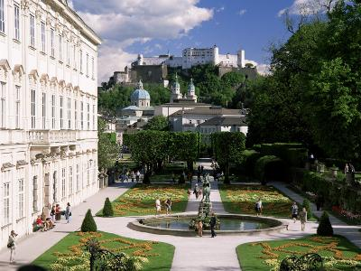Mirabell Gardens and the Old City, Unesco World Heritage Site, Salzburg, Austria-Gavin Hellier-Photographic Print