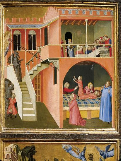 Miracle of St. Nicholas Reviving Boy Posed by Demon-Ambrogio Lorenzetti-Giclee Print