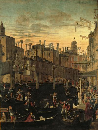 Miracle of the Relic of the True Cross at the Rialto Bridge Or the Healing of the Possessed Man-Vittore Carpaccio-Giclee Print