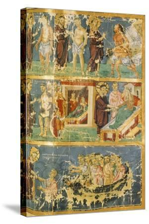 Miracles of Jesus, Miniature from Homilies by Saint Gregory, Manuscript, 9th Century--Stretched Canvas Print