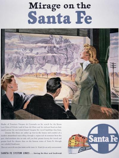 Mirage on the Santa Fe', 1946--Giclee Print