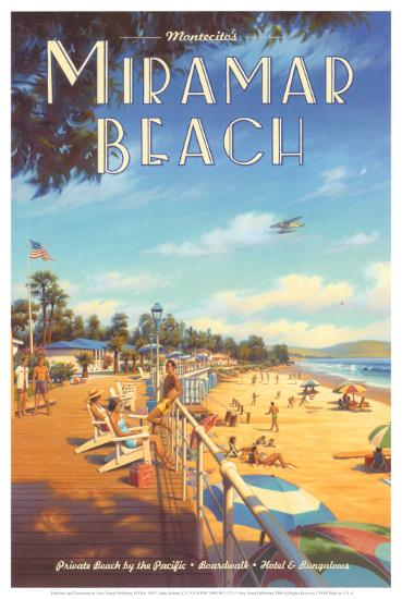 Miramar Beach, Montecitos-Kerne Erickson-Art Print