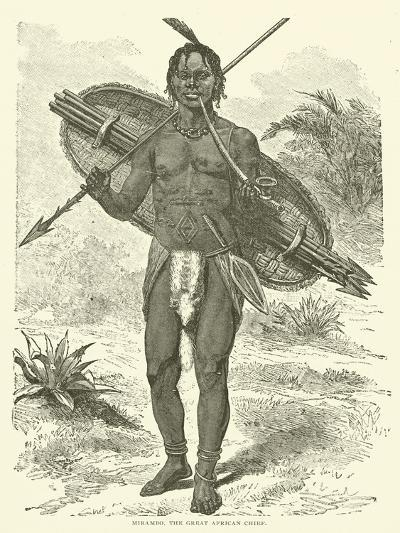 Mirambo, the Great African Chief--Giclee Print