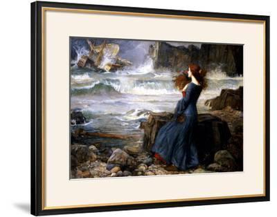 Miranda, the Tempest, 1916-John William Waterhouse-Framed Giclee Print
