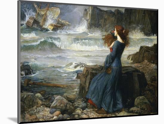 Miranda, the Tempest, 1916-John William Waterhouse-Mounted Premium Giclee Print