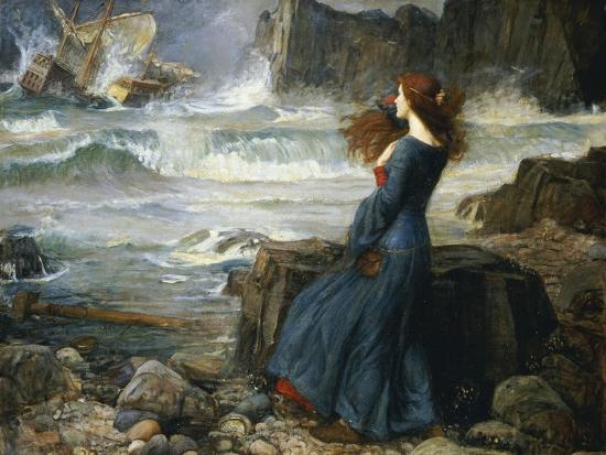 Miranda, the Tempest, 1916-John William Waterhouse-Giclee Print