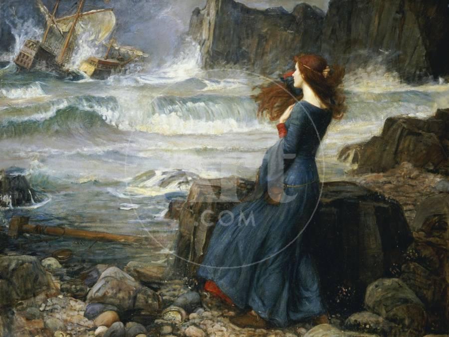 Miranda The Tempest 1916 Giclee Print By John William Waterhouse
