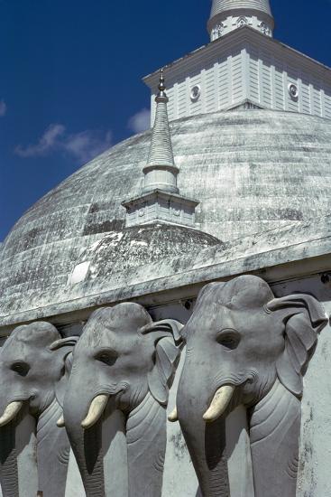 Mirasevti Stupa in Sri Lanka. Artist: Unknown-Unknown-Photographic Print