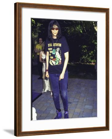 Punk Rock Singer Joey Ramone of Group the Ramones