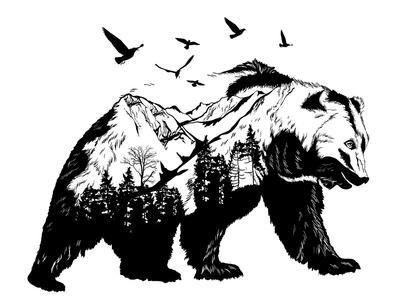 Double Exposure - Bear