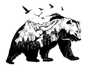 Double Exposure - Bear by Mirifada