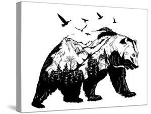 Double Exposure - Bear by Mirifada