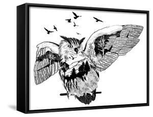 Double Exposure - Owl by Mirifada