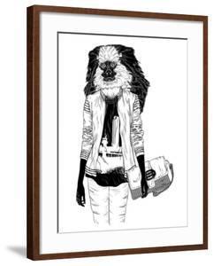 Fashion Monkey with Bag by Mirifada