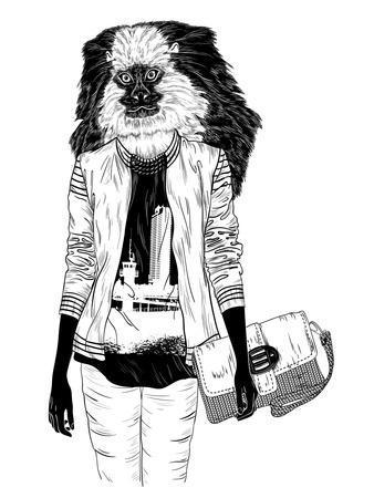 Fashion Monkey with Bag