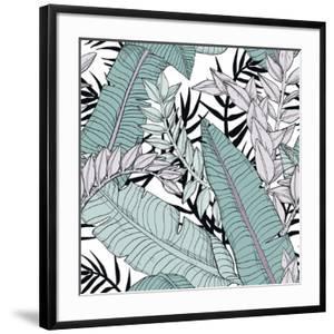 Leaf Pattern with Tropical Plants by Mirifada