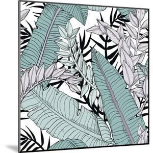 Leaf Pattern with Tropical Plants by Mirifada