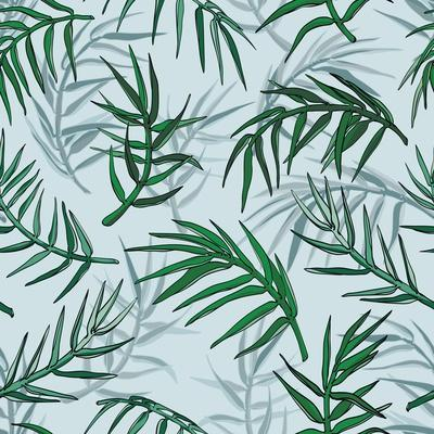 Palm Jungle Leaves Pattern