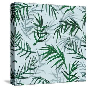 Palm Jungle Leaves Pattern by Mirifada