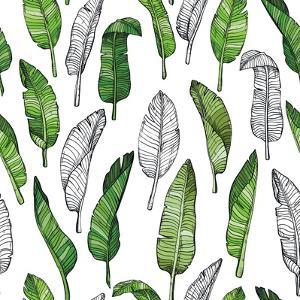 Tropical Leaf Illustration by Mirifada