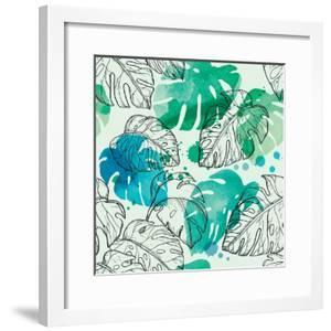 Tropical Watercolor Leaf Pattern by Mirifada