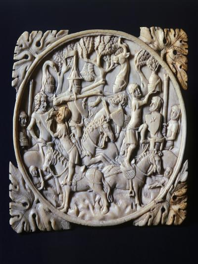 Mirror Box Valve Depicting Tournament, Ca 1380--Giclee Print