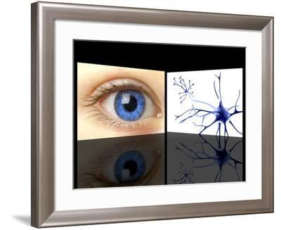 Mirror Neuron, Conceptual Image-PASIEKA-Framed Photographic Print