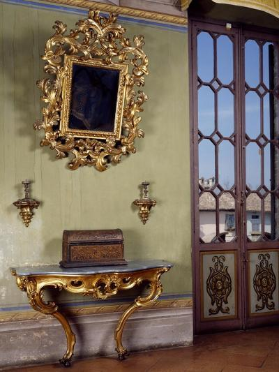 Mirror with Candle Holders and French Side Table, Rocca Sanvitale, Fontanellato, Near Parma--Giclee Print