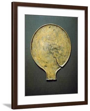 Mirror with Engraving Depicting Minerva Who Being Born from the Head of Jupiter--Framed Giclee Print