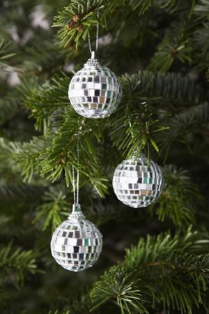 Mirrored Christmas Ornaments on Christmas Tree