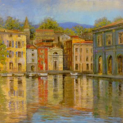 Mirrored Villa-Michael Longo-Art Print