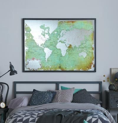 Mirrored World Map--Home Accessories
