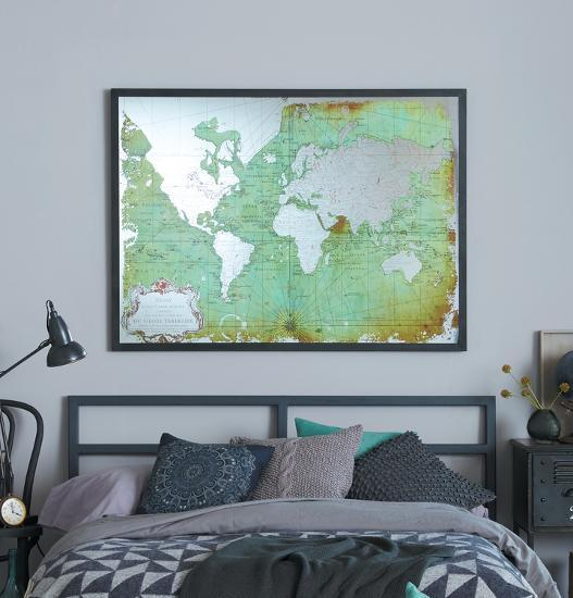 Mirrored Map Of The World.Mirrored World Map Home Accessories By Art Com