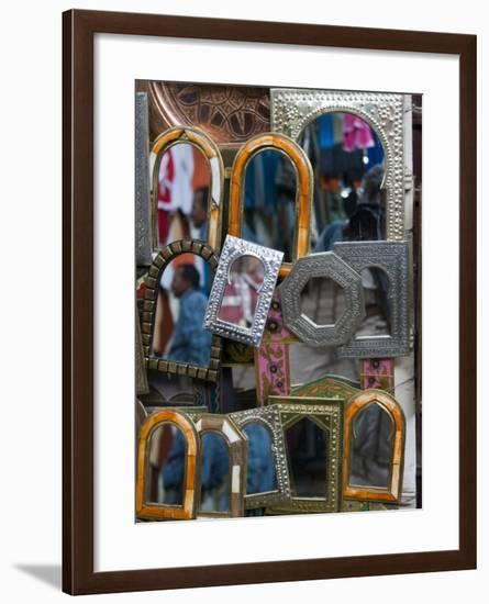 Mirrors for Sale in the Souk, Marrakech (Marrakesh), Morocco, North Africa, Africa-Nico Tondini-Framed Photographic Print