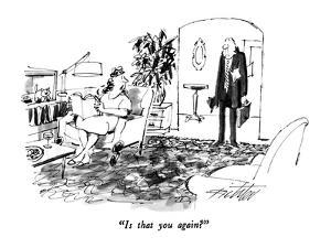 """""""Is that you again?"""" - New Yorker Cartoon by Mischa Richter"""