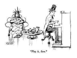 """Play it, Sam."" - New Yorker Cartoon by Mischa Richter"