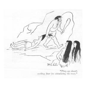 """They say there's nothing finer for stimulating the roots."" - New Yorker Cartoon by Mischa Richter"