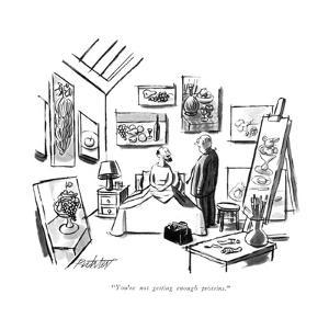 """""""You're not getting enough proteins."""" - New Yorker Cartoon by Mischa Richter"""