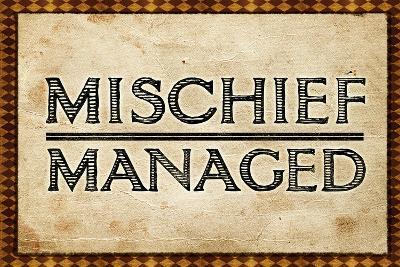 Mischief Managed--Art Print