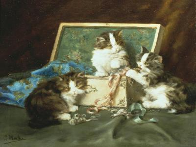 Mischief with the Sewing Basket-Daniel Merlin-Giclee Print