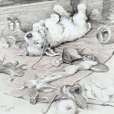Mischievous Puppy-Cecil Aldin-Giclee Print