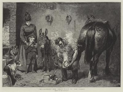 Misgivings, His First Visit to the Forge-John Charlton-Giclee Print