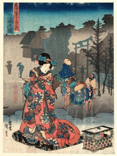Mishima No Zu-Utagawa Toyokuni-Giclee Print