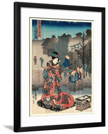Mishima No Zu-Utagawa Toyokuni-Framed Giclee Print