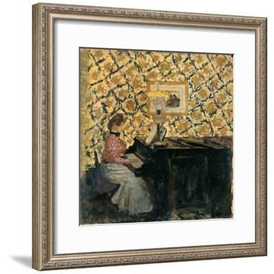 Misia at the Piano, 1895-96-Edouard Vuillard-Framed Giclee Print